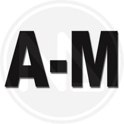 Lettera adesiva f mm 100 nero