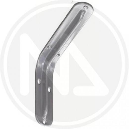 Mensola semplice acc. stampato bianca 40cm maurer
