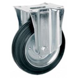 Ruota gomma piastra fissa 150mm (535711)
