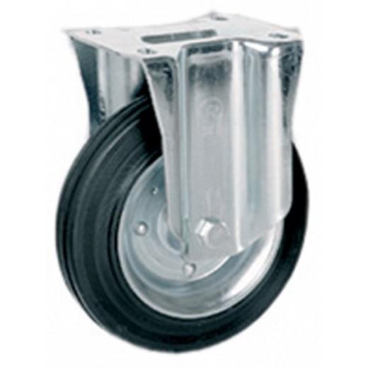 Ruota gomma piastra fissa 160mm (535712)