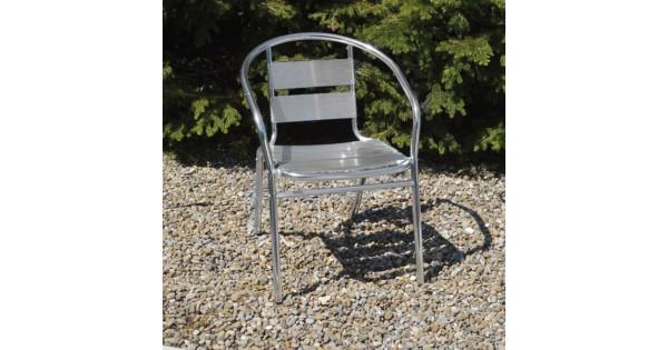 Sedia con Braccioli Papillon Happy Hour in Alluminio Impilabile 55x56x74 94490