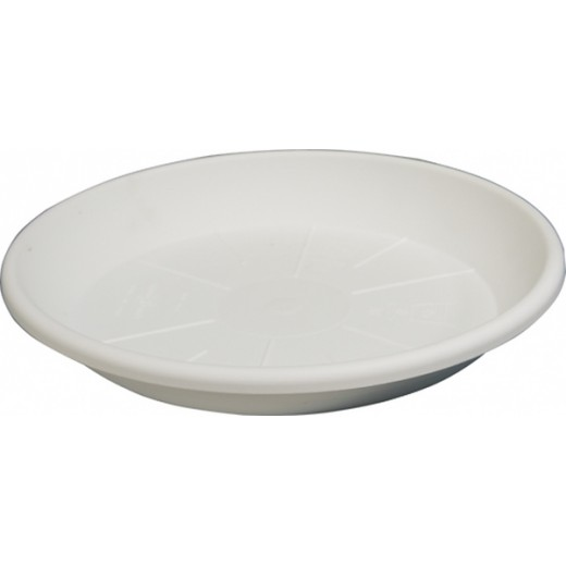 Sottovaso tondo bianco x vaso festonato ø 50cm